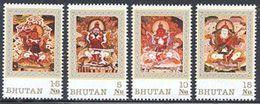Bhutan Door Gods, Neuf** Sans Charniere, Mint NH, Scott 1091-1094 - Bhutan