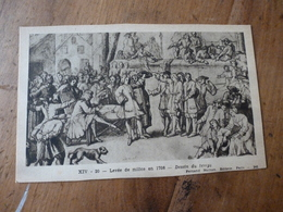 CPA ,édition 1930, Pour L'enseignement De L'Histoire De France  ---> Levée De Milice En 1708 - Historia