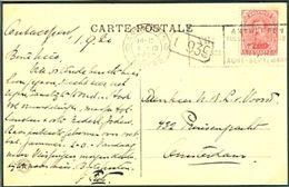 BELGIUM Postcard With Olympic Machine Cancel Antwerpen 6 Anvers Dated 1-IX-1920 Soccer Day - Summer 1920: Antwerp