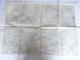 Carte Topographique  Territoire De La 2éme  Région   Imp Zincographique Du Service Géographique De L'armée - Documents