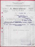 1950 FACTURE Fabrique De CONSERVES ALIMENTAIRES A. ROUSSEAU 72 LE MANS Rue Fleury Fondée LA SUZE-sur-Sarthe - Alimentare