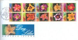 NORFOLK ISLAND - FDC - 10.6.2003 - DAY LILIES  - Yv 776-785 ASC 824a - Lot 17488 - Ile Norfolk