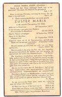 Devotie Overlijden Doodsprentje - Non Zuster Maria - Germaine De Vos - Boechout 1877 - 1940 - Avvisi Di Necrologio