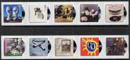 69155 Great Britain 2010 Classic Album Covers Self Adhesive Set (music Rock Rolling Stones) U/m - Unused Stamps