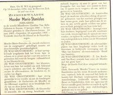 Devotie Overlijden Doodsprentje - Non Zuster Moeder Marie Stanislas - C. Van Belle - Essene 1886 - St Pieters Leeuw 1956 - Avvisi Di Necrologio
