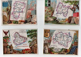 CHROMO Département Blason Carte Ain Aisne Allier Alpes Maritimes Ardèche Ariège Aube Aude Basses Alpes (16 Chromos) - Cromo