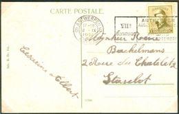 BELGIUM Postcard With Olympic Machine Cancel Antwerpen 6 Anvers Dated 3-IX-1920 Sailing Day - Summer 1920: Antwerp