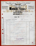1950 FACTURE Manufacture De BOITES à CONSERVES Etablissements ROUX Frères 19 BRIVE-La-GAILLARDE Corrèze * De - Alimentare