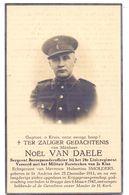 Devotie Overlijden Doodsprentje - Soldaat Sergeant Noel Van Daele - St Andries - Brugge 1942 - Krijgsgevangene - Avvisi Di Necrologio
