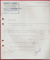 1950 FACTURE Dordogne 24 VILLEFRANCHE-du-PERIGORD Scierie Mécanique Charles MAURIAL & Fils (Caisses à Conserves) - Non Classificati