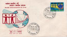 VIETNAM   -  1973 The 50th Anniversary Of Interpol  FDC5498 - Vietnam
