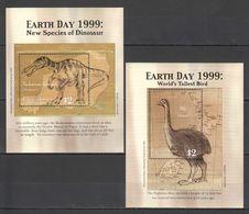 N313 MICRONESIA ANIMALS PREHISTORIC EARTH DAY 1999 2BL MNH - Prehistorics