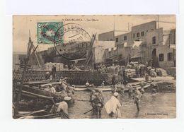 Sur Carte Postale Casablanca 5 Cent Vert Surchargé Correo Espana Marruescos. Cachet Correo Espana Casablanca 1910 (3054) - Spanish Morocco
