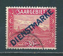 Saar MiNr. D 7 Gestempelt, Plattenfehler IV Geprüft Hoffmann BPP (sab01) - Dienstmarken
