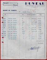 1950 FACTURE Signée 47 MIRAMONT-de-GUYENNE - Transports De Primeurs HUMEAU (Fruits Et Légumes) Pour Conserves à EYMET 24 - Trasporti