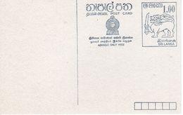 SRI LANKA  -  POST CARD    FDC5510 - Sri Lanka (Ceylon) (1948-...)