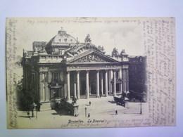BRUXELLES  :  La BOURSE   1905   XXX - Transport (rail) - Stations