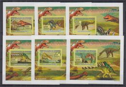 L81. MNH Guinee Nature Animals Prehistoric Dinosaurs Imperf - Prehistorics