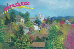 Honduras - San Antonio De Oriente By Artist Carlos Garay - Art Painting - Modern Post Card - Honduras