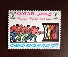 Qatar 1971 Racial Equality Year 2d MNH - Qatar