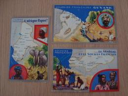 LOT DE 3 IMAGES COLONIES FRANCAISES SENEGAL GUYANE AFRIQUE EQUATORIALE - Andere