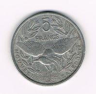-&   NEW  CALEDONIA  5  FRANCS   1952 - Nouvelle-Calédonie