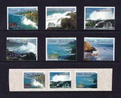 New Zealand 2002 Scenic Coastlines Set Of 6 + Self-adhesives MNH - New Zealand