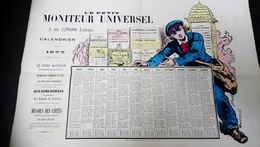 Le Petit Moniteur Universel Calendrier Pour 1877 - Calendriers
