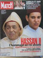 PARIS MATCH N°2619 (5 Août 1999) L'adieu à Hassan II - Carolyn Et John Kennedy - A Vandernoot - Algemene Informatie