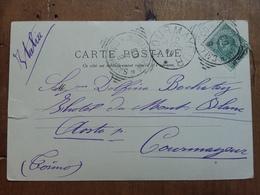 LEVANTE ITALIANO - SALONICCO 1909 - 10 Para Su 5 Cent. Viaggiato - Spedito In Italia (taglio A Lato) + Sped. Prioritaria - 11. Uffici Postali All'estero