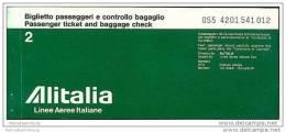 Alitalia - Linee Aeree Ilaliane 1977 - Johannesburg Rome Zurich - Tickets