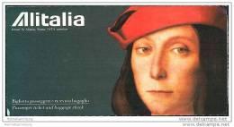 Alitalia 1992 - Zurich Milan Catania Rome Zurich - Tickets