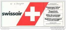 Swissair - Zurich Seoul Zurich 80er Jahre - Tickets