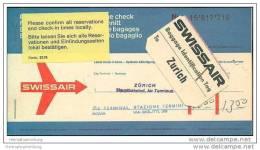 Swissair 1968 - Zurich Rome Zurich - Tickets