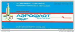 Aeroflot - Soviet Airlines 1979 - Moscow Geneva Zurich - Tickets