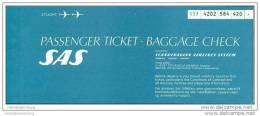 SAS - Scandinavian Airlines System 1978 - Tokyo Zurich - Tickets