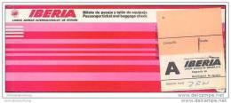 Iberia 1977 - Lineas Aereas Espana - Zurich Madrid Asturias Madrid Zurich - Tickets