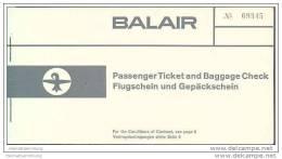 Balair 1960 - Basel Brussel Basel - Tickets