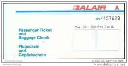Balair - Zurich Glasgow Zurich - Tickets