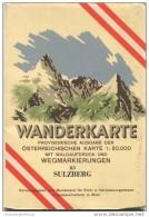 83 Sulzberg 1953 - Wanderkarte Mit Umschlag - Provisorische Ausgabe Der Österreichischen Karte 1:50.000 - Herausgegeben - Mapamundis