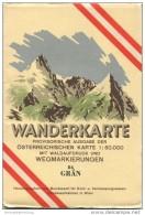 84 Grän 1952 - Wanderkarte Mit Umschlag - Provisorische Ausgabe Der Österreichischen Karte 1:50.000 - Herausgegeben Vom - Mapamundis