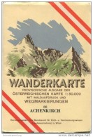 88 Achenkirch 1953 - Wanderkarte Mit Umschlag - Provisorische Ausgabe Der Österreichischen Karte 1:50.000 - Herausgegebe - Wereldkaarten