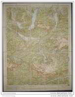 Dachstein Und Salzkammergutseen Blatt 28 - Kartographische Anstalt Freytag-Berndt Und Artaria Wien - 1:100 000 Auf Leine - Mapamundis