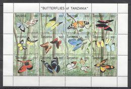 N376 TANZANIA BUTTERFLIES OF TANZANIA 1SH MNH - Schmetterlinge