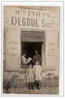 THIEZAC : Carte Photo Du Magasin POUPE (DEGOUL Succr) (beurre - Oeuf - Fromages) - Très Bon état - France