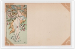 MUCHA Alfons : Saison : Printemps Vers 1900 - Bon état (marques D´album) - Mucha, Alphonse