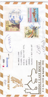 Iraq Com.Regsitr Cover 2002, ERRO PAIR Army Day 1 ALBINO, Rare- Verso 5 Com.stamps. Red. Pr. SKRILL PAYMENT ONLY - Iraq