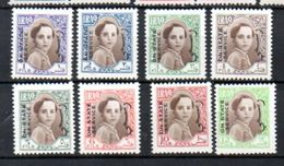 1942 Faisal II Offial MNH (Mi. # 136-43, 4 Fen 1 Mm Spot, See Scan) (i15) - Irak