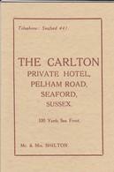 ROYAUME-UNI----SEAFORD--THE CARLTON--private Hôtel---voir 3 Scans - Royaume-Uni
