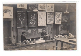 PARIS : Carte Photo D´une Salle De Classe De La Sorbonne Vers 1910 (sciences-veterinaire) - Très Bon état - Arrondissement: 05